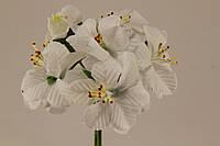 Цветок яблони искусственный белый (букет) 5634-1-15