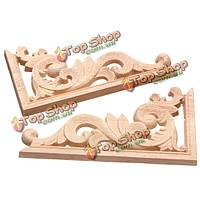 Деревянные резные элементы для мебели 13 х 7см