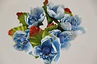 Лютики искусственные голубые (букет) 5634-1-9