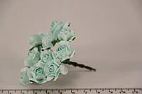Роза искусственная голубая (букет) 5634-1-10