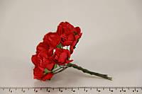 Роза искусственная красная (букет) 5634-1-10