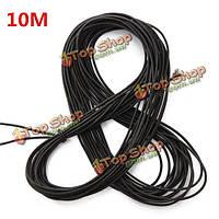10м черная нить эластичный шнур круглого строка плеть