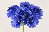 Пион искусственный синий (букет) 2015-1-7-1