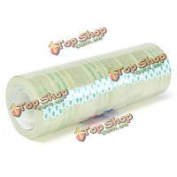 8шт 18мм x30м прозрачной липкой упаковки упаковочная лента