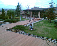 Террасная доска лиственница сибирская, сорт АВ, 28×147×4000 мм