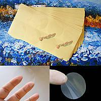 15шт 50мм глянцевые Clear круглые постоянные пломбы наклейки липких этикеток Self клей