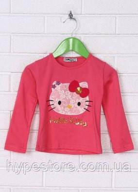 Красивая кофта,реглан,футболка с рукавом для девочки с красочным принтом Китти отличного качества,см.описание