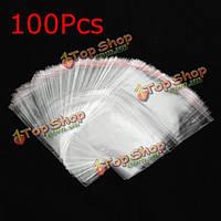 100шт закрывающийся прозрачный пакет целлофана ОПП с собственной уплотнительной ленты