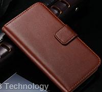Кожаный чехол-книжка для Samsung Galaxy S3 i9300 коричневый