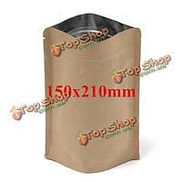 Крафт-пакеты бумажные с застежкой 150x210mm