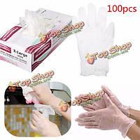 100шт одноразовые перчатки латексные антистатические экзамен медицинской пищевой промышленности