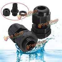 20шт pg7 черный пластик водонепроницаемый кабельный ввод суставов разъемы
