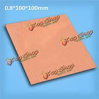 99.99% чистой меди с использованием безопасной металла листовой пластины 0.8мм * 100мм * 100мм