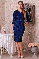 Модное платье трикотаж с флокированием
