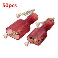 50шт красный женский и мужской изолированный провод разъём 22-18 КРГ манометр