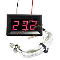 Красный LED DC12V метр Температура цифровой термопара 0 ~ 999 ° С с зондом