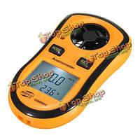 Gm8908 карманные электронные скорость ветра калибровочных анемометр метр термометр