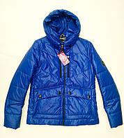 Куртка короткая демисезонная женская синяя 42-52 р-р