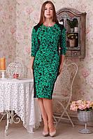 Оригинальное платье с растительным принтом