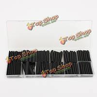 240шт черный полиолефин 2:1/3:1 безгалогенные термоусаживаемые трубки комплект
