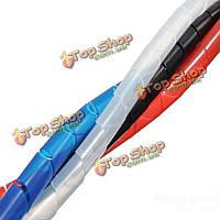 1м спиральный провод завернуть пробку управления шнур для ПК домашний компьютер кабель 4-50мм