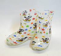 Сапоги детские силиконовые белые 25-30 оптом Украина, фото 1