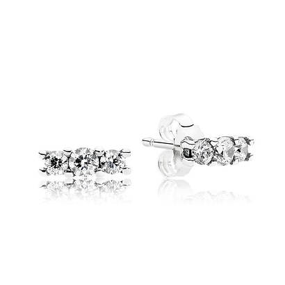 Серьги из серебра 925 пробы в стиле Pandora