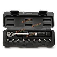 1/4-дюйма привод 2-14nm велосипед автомобиля привод динамометрический ключ комплект комплект ключ гнездо инструмент