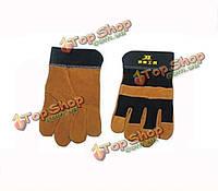 Боси пайки сварки ткани кожи защиты перчатки bs470153
