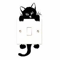 Кошка наклейка на выключатель