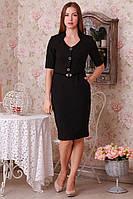 Черное платье с прорезными карманами