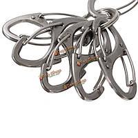 Из нержавеющей стали мини-пружинный зажим инструмента пряжки карабин Карабин брелок для ключей