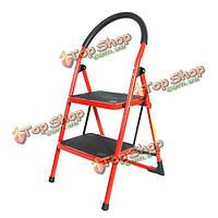 Красный семейного использования портативной бытовой лестницы 2 ступени складной стул лестницы лестницы платформы