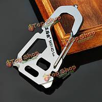 Sanrenmu sk014D мульти инструментарий гвоздодер разводной ключ открывалка брелок