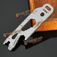 Sanrenmu gj023D мульти инструментарий гвоздодер разводной ключ открывалка брелок