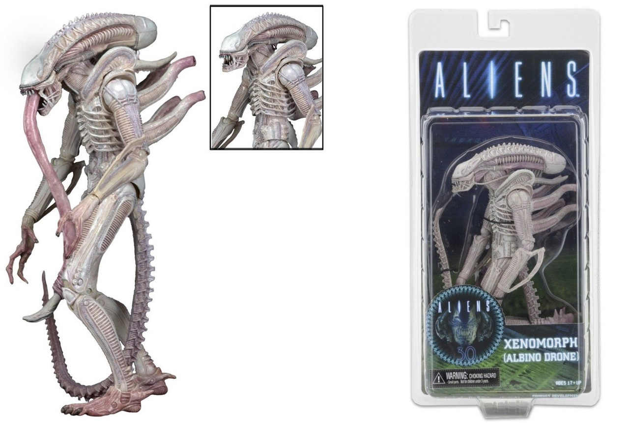 Фигурка Чужой-альбинос Ксеноморф - Xenomorph, Albino Drone,  Alien, Series 9, Neca