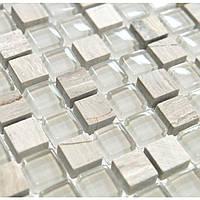 Мозаика для кухонного фартука Vivacer DAF14 камень стекло