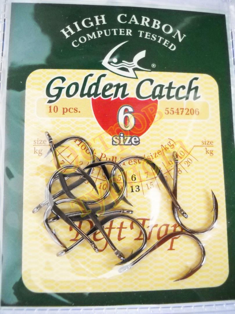 Крючки Golden Catch  Deft Trap № 6 10шт