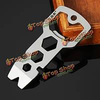 Sanrenmu gj021d мульти инструментарий гвоздодер разводной ключ открывалка брелок