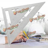 7-дюймов алюминиевого сплава кровельный стропила квадратный треугольник линейка транспортир измерительный инструмент