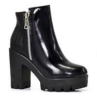 Женские полу ботинки на молнии, осенние
