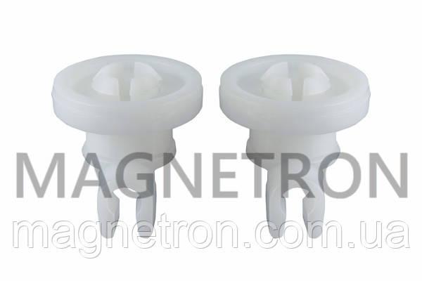 Набор колес (2шт) с держателями (2шт) верхнего ящика для посудомоечной машины Bosch 382452, фото 2