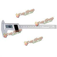 ЖК солнечный 150мм цифровой штангенциркуль углеродного волокна композитного Измерительный инструмент