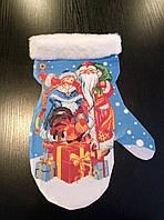 Заготовка для вышивки бисером новогодней рукавички