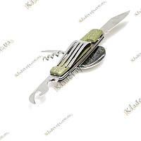 Походный мультитул с ножом и вилкой (зеленый), фото 1