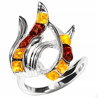 Янтарь Прибалтика, серебро 925, 148КЯ  кольцо