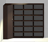 Угловой шкаф со стеллажом
