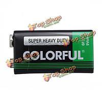Красочные универсальная 800mah 9v батарея для мультиметр термометр и т.д.