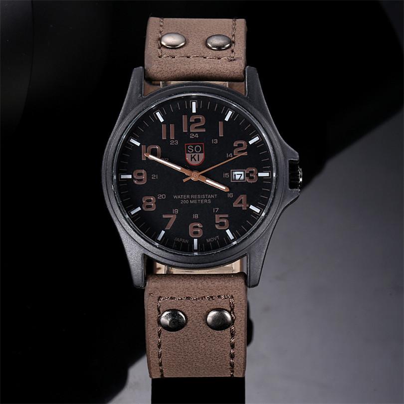 Мужские военные часы черные