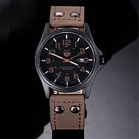 Мужские военные часы черные, фото 1